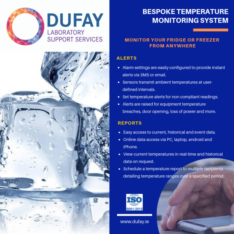 Bespoke Temperature Monitoring System - monitor your fridge